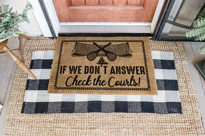 If We Don't Answer Tennis Coir Pattern All Over Printing Doormat - Pandzee
