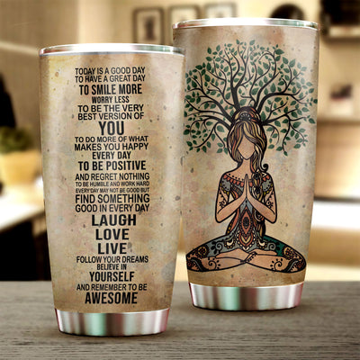 Yoga Laugh Love Live Tumbler Cup - Pandzee