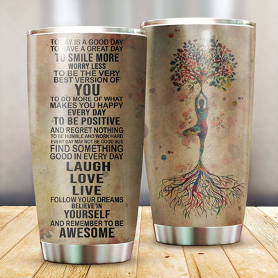 Yoga Awesome Tumbler Cup - Pandzee