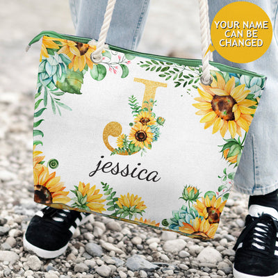 Name Letter Flower Custom Bag - Pandzee
