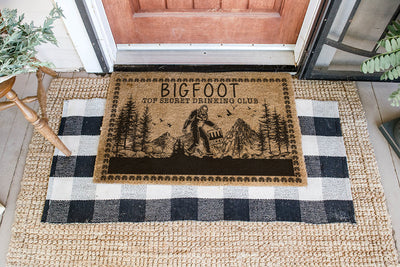 Top Secret Bigfoot Coir Pattern All Over Printing Doormat - Pandzee