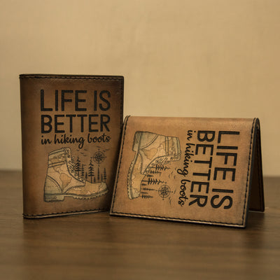Life Is Better In Hiking Boots Minimalist Wallet - Pandzee