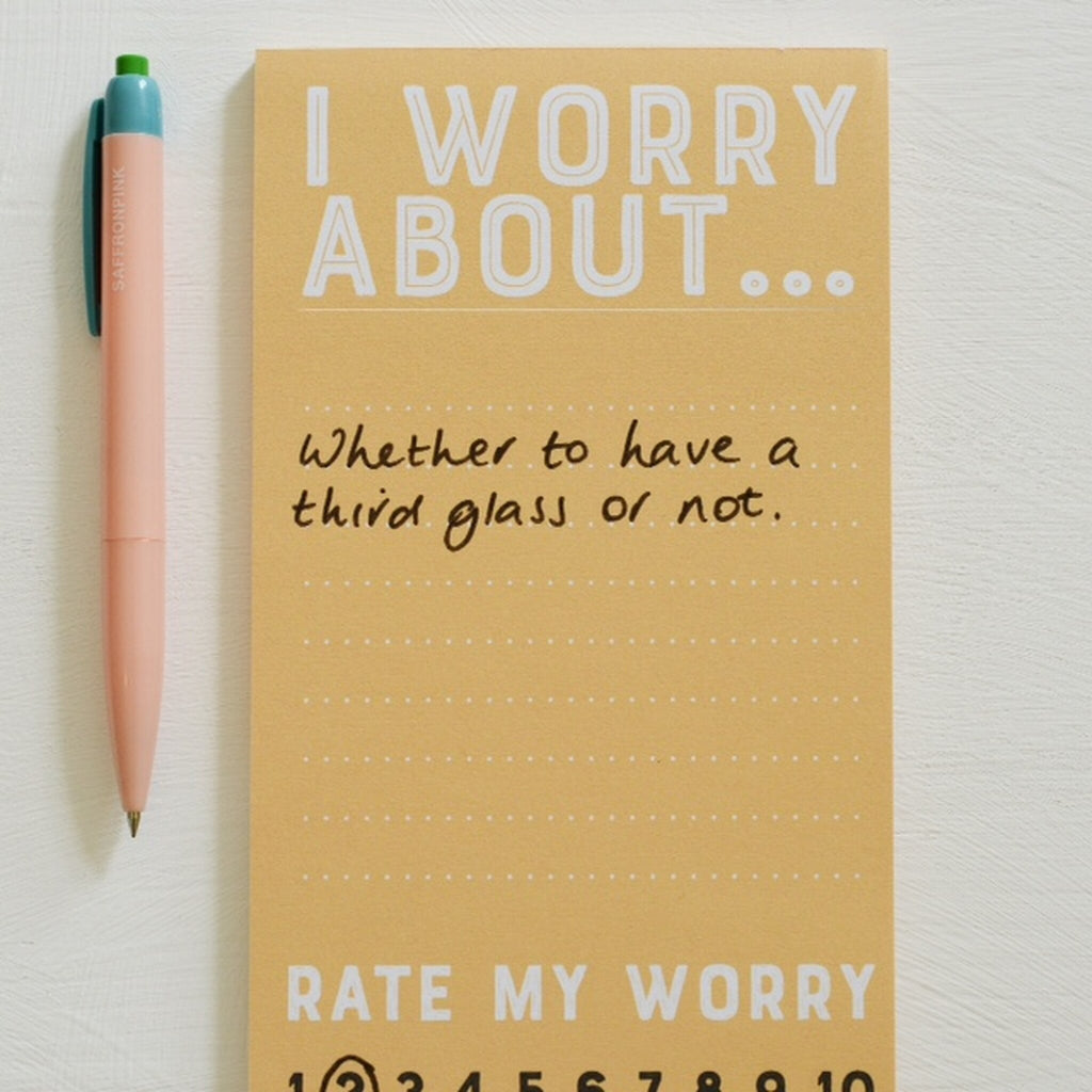 Rate My Worry Notepad