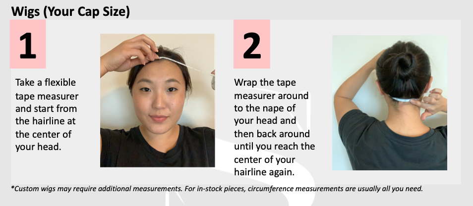 how to measure you head for a wig