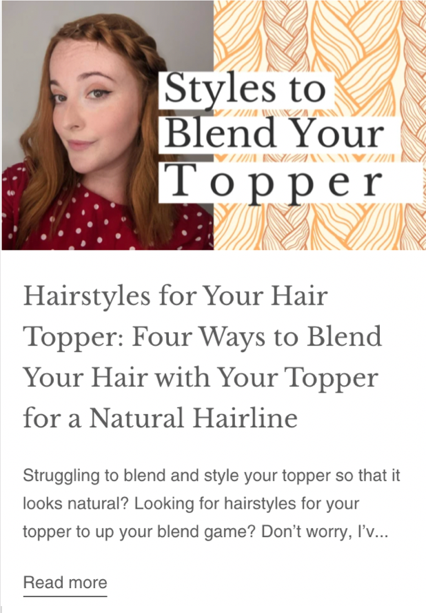 how to blend your hair topper