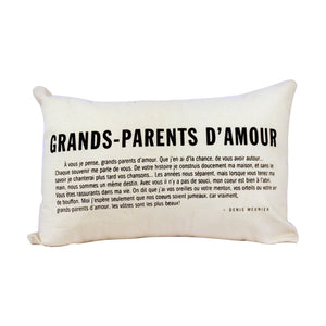 Coussin Zen Grands-parents d'amour