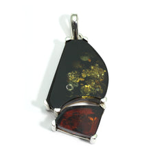 Load image into Gallery viewer, Silver Amber Green Pendant