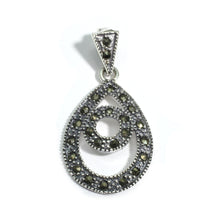 Load image into Gallery viewer, Silver and Marcasite pendant