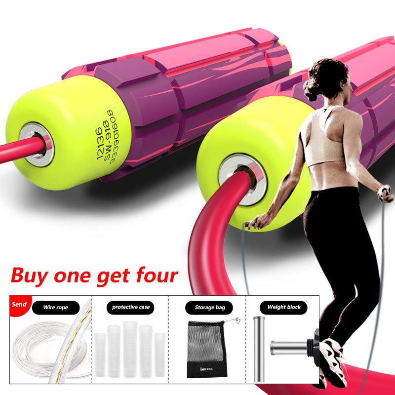 Steel wire bearing skipping rope, fitness equipment, skipping rope