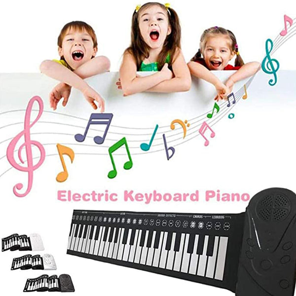 49 Keys Portable Roll Up Piano for Kids Adults