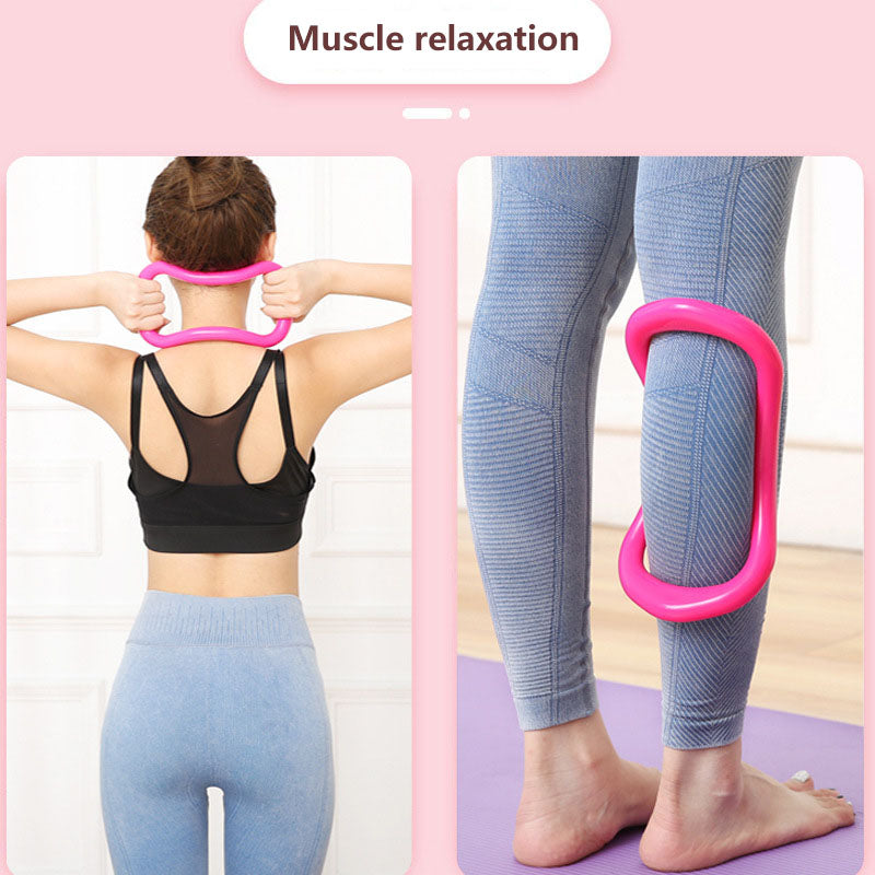 Oval arched convex point massage butterfly back ring, yoga open back ring, fitness high load-bearing neck open back ring