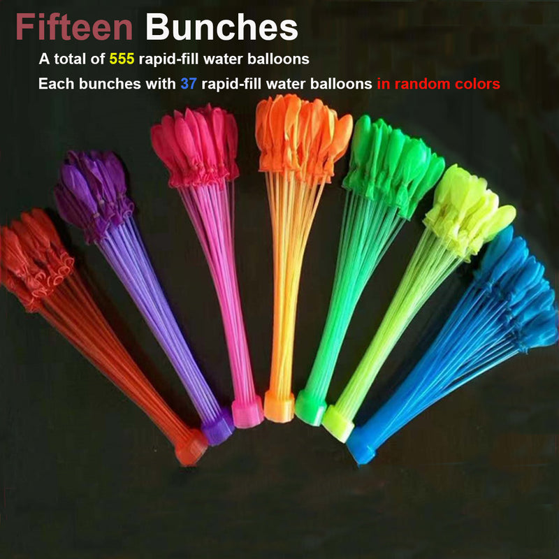 Bunch O Balloons - 555 Rapid-Fill Water Balloons (15 bundles)