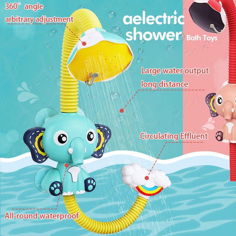 Small elephant aelectric shower sprinkling water children baby bath summer toys