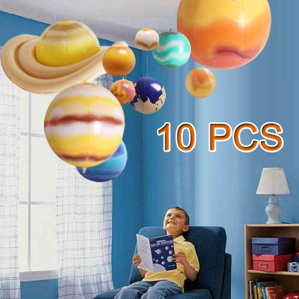 Galaxy Teaching Model Balloons Children Blow Up Inflatable Toy 10pcs