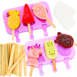 Silicone Ice Pop Molds 6 Style