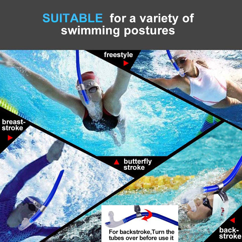 One-Way Purge Valve Swim Snorkel voor training Snorkelduiken