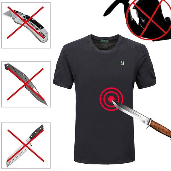 Stab Proof Elastic Tactical T-Shirt&Anti-Cut Wrist Brace