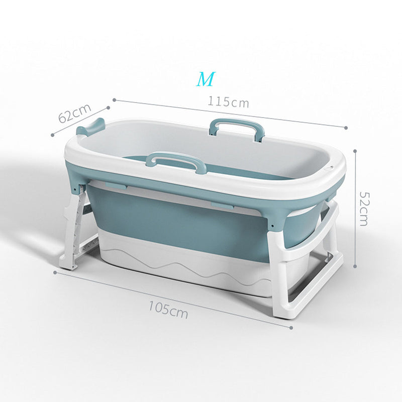 Anti-Slippery Insulation Adult Folding Bathtub Plastic Children Bath Barrel