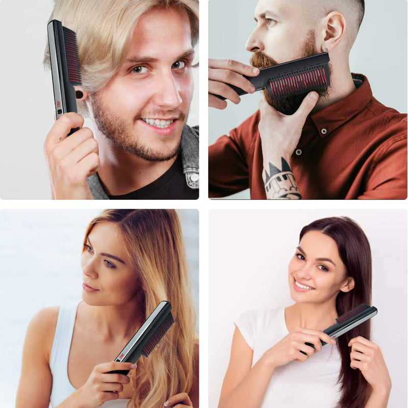 New LCD Ceramic Straight Hair Comb Beard Comb For Men and Women