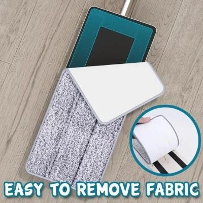Hands-free washing lazy flat mop for household wet and dry use