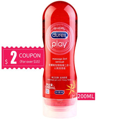 Durex Lubricant Fruit Based 50/200ml Water Based Lubricant Massage Orgasm Anal Vaginal