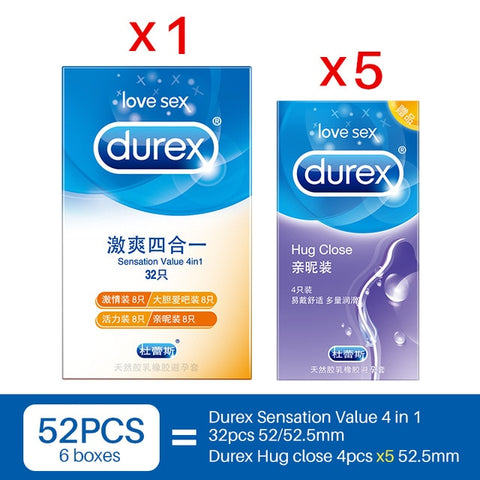 Презервативы Durex 100 шт. 4 типа Sensation Value ультра тонкие
