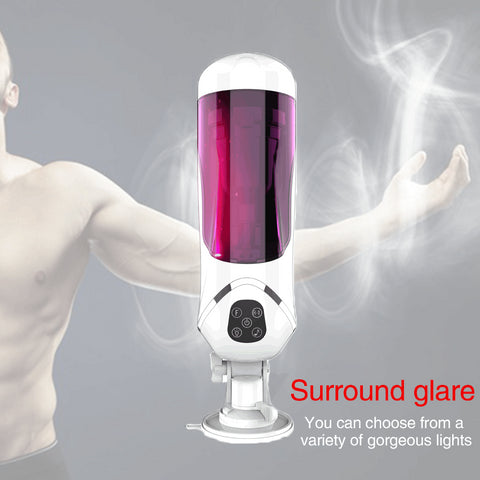 Fully Automatic Masturbator Cup for Male Penis Exercise Rotation Telescopic Voice Masturbator Sucking Vacuum Pumps Sex Machine