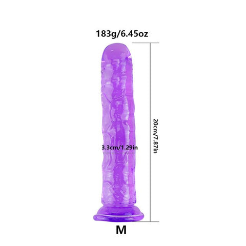 Реалистичный пенис Jelly Dildo для женщин, присоска,