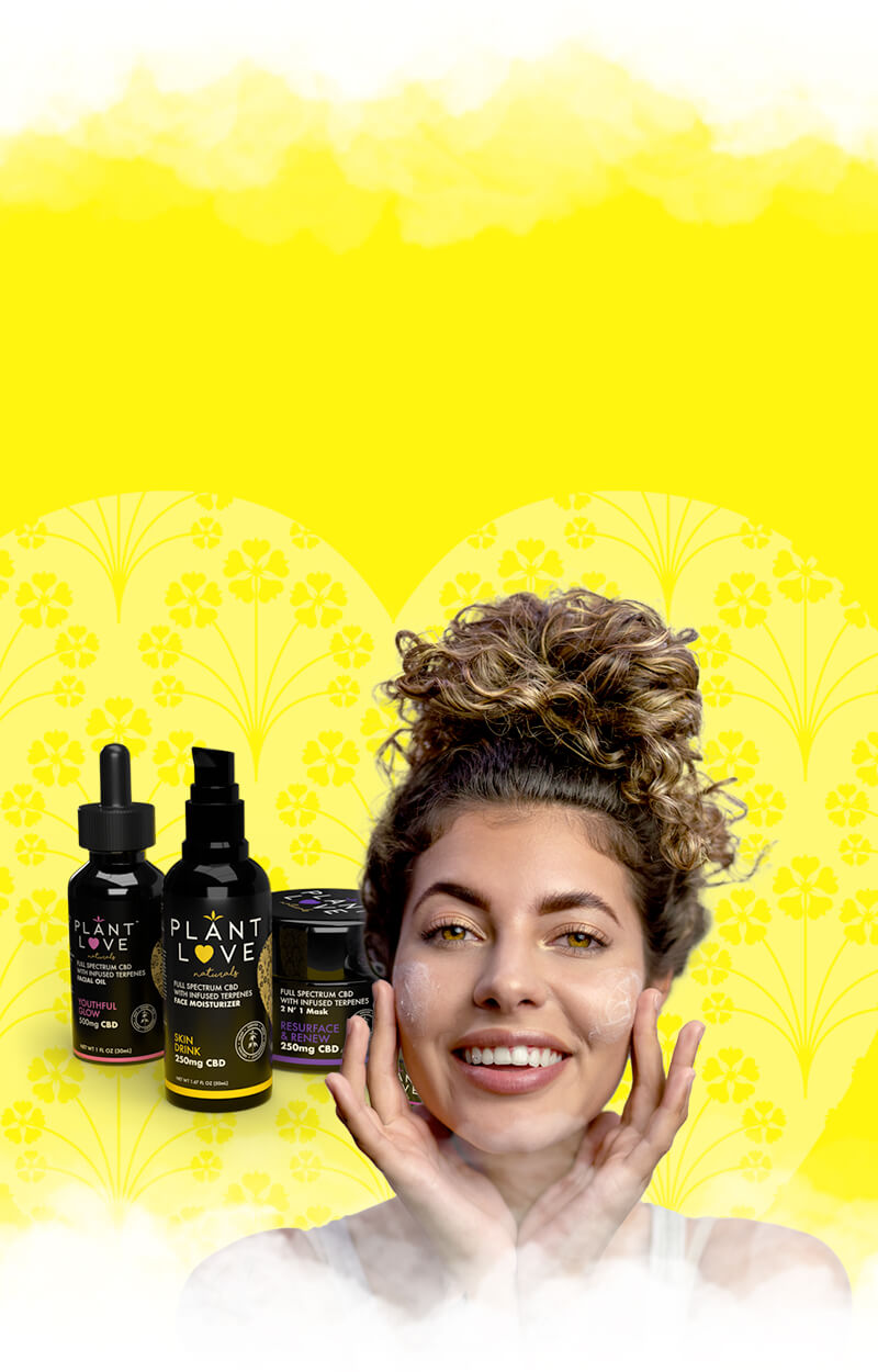 A woman using some Plant Love Naturals moisturizer
