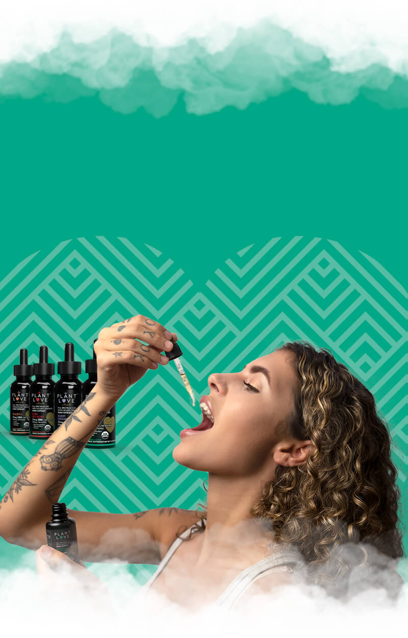 A woman enjoying some Plant Love Naturals CBD extract