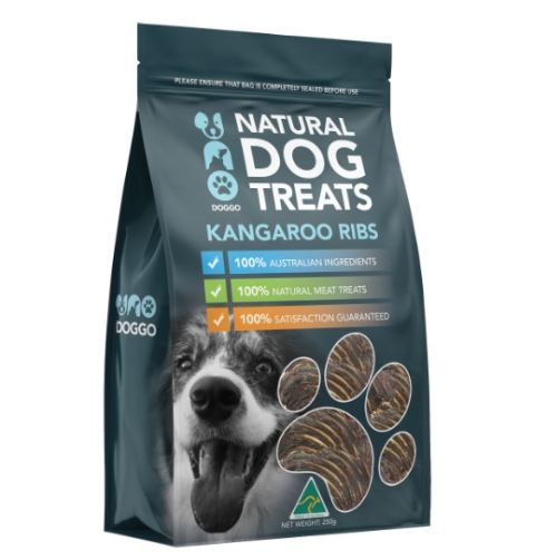 Uno Doggo - Kangaroo Ribs Natural Dog Treats