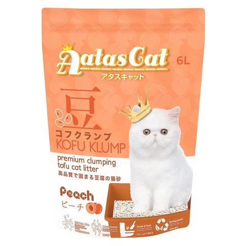 Aatas Cat Kofu Klump Tofu Cat Litter Peach