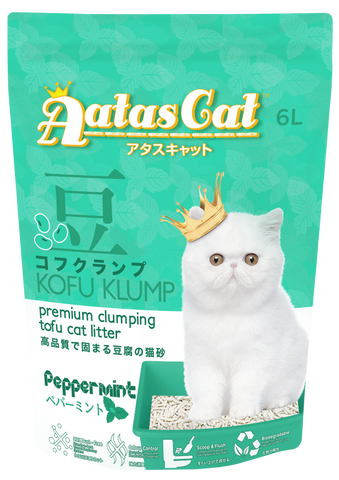 Aatas Cat Kofu Klump Tofu Cat Litter Peppermint