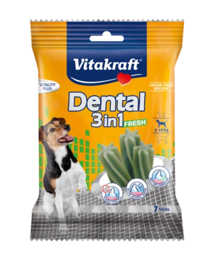 Vitakraft - Dental 3-in-1 Spearmint Dog Treats