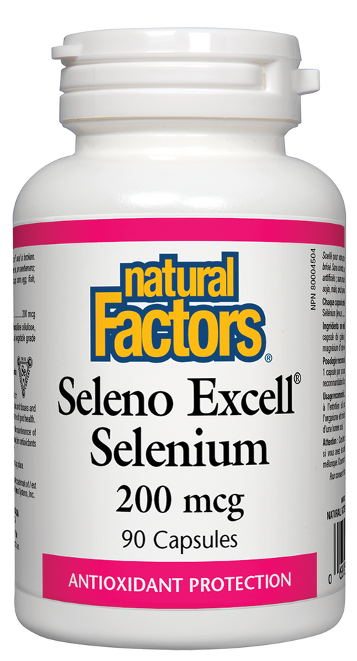 Natural Factors Seleno Excell'  Selenium 200 mcg 90 Capsules