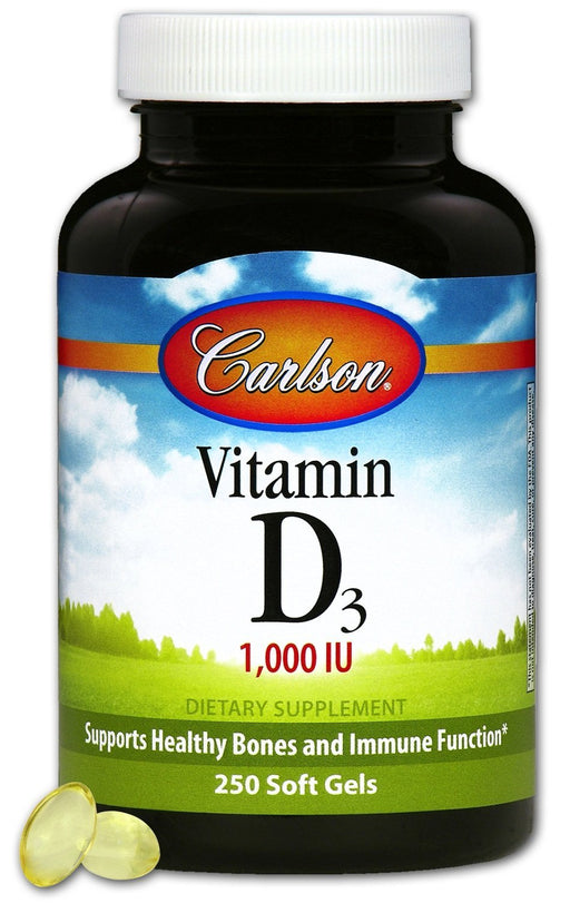 Carlson Laboratories Vitamin D3 1,000 IU/25 mcg 250 Softgels