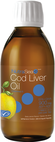 Ascenta NutraSea +D Cod Liver Oil Zesty Lemon 200 ml