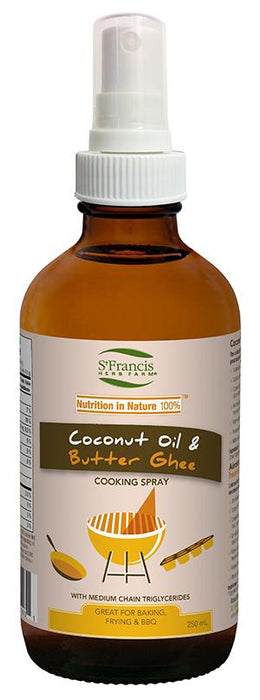St Francis Herb Farm Virgin Coconut Oil & Butter Ghee Cooking Spray