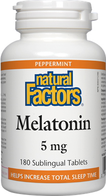 Natural Factors Melatonin 5 mg 90 Sublingual Tablets