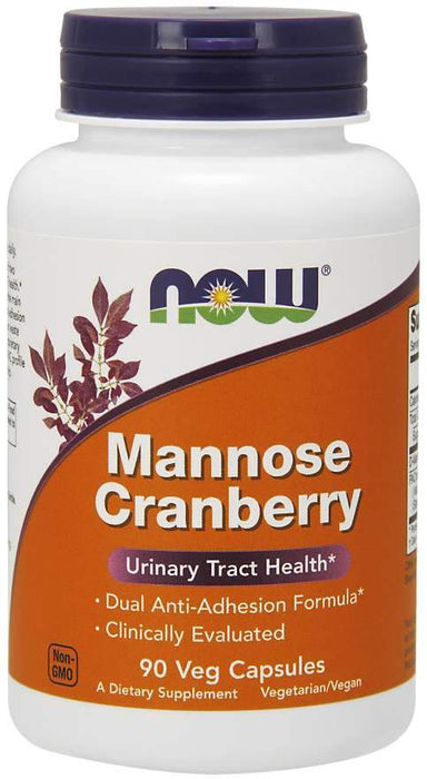 NOW Mannose Cranberry 450 mg 90 Capsules