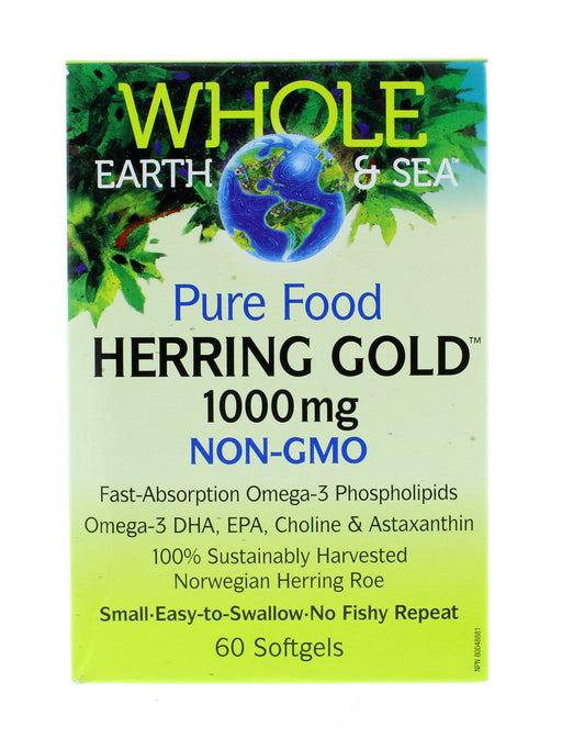 Whole Earth and Sea Herring Gold 1000 mg 60 Softgels