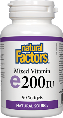 Natural Factors Vitamin E Mixed 200 IU, 90 Softgels