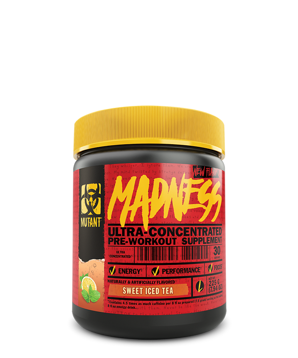 Mutant Madness Pre-Workout Supplement 225 g – Sweet Iced Tea