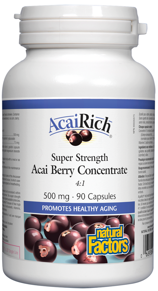 Natural Factors AcaiRich Super Strength Acai Berry Concentrate 90 Capsules