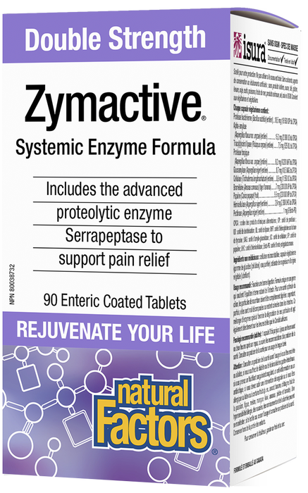 Natural Factors Zymactive Double Strength, 90 Tablets