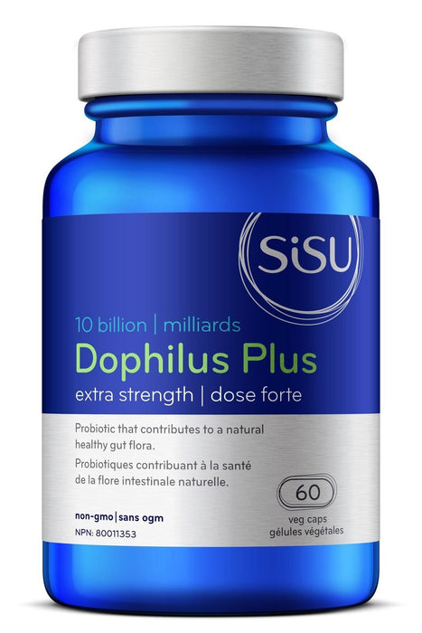 Sisu Dophilus Plus Extra Strength 10 Billion 60 Capsules