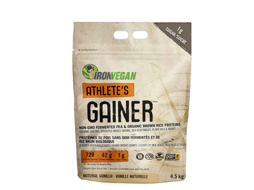 Iron Vegan Athlete's Gainer Natural Vanilla 4.5 kg