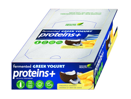 Genuine Health Fermented Greek Yogurt Proteins+ - Pineapple Coconut-12 X 55g bars