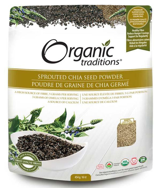 Organic Traditions Sprouted Chia Seed Powder