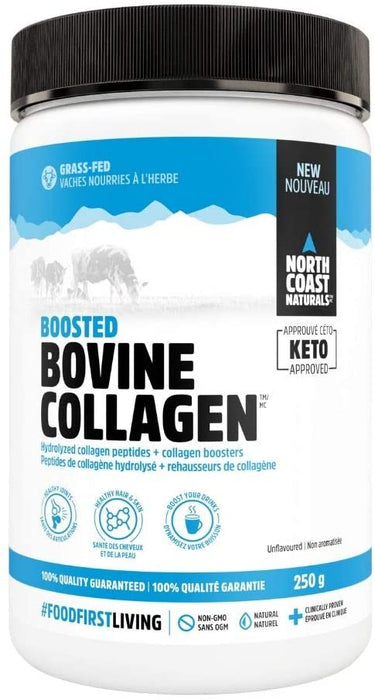 North Coast Naturals Boosted Bovine Collagen 250 g - Unflavoured